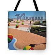 Wildwood's Sign, Boardwalk Wildwood, Nj. Copyright Aladdin Color Inc. Tote Bag