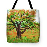 Willow Tree, Painting Tote Bag