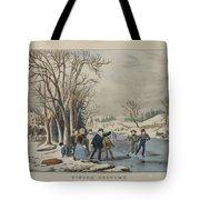 Winter Pastime Tote Bag