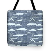Winter Town Pattern  Tote Bag