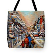 Winter Walk In Montreal Tote Bag