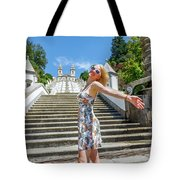Woman In Portugal Tote Bag