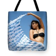 Woman In Sarong Tote Bag