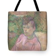 Woman In The Garden Of Monsieur Forest Tote Bag