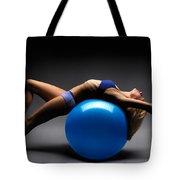 Woman On A Ball Tote Bag