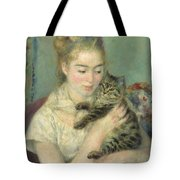 Woman With A Cat Tote Bag