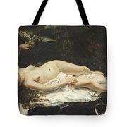 Woman With A Parrot 1866 Tote Bag
