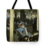 Women On A Cafe Terrace Tote Bag