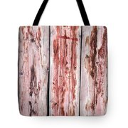 Wood Background With Faded Red Paint Tote Bag