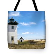 Wood End Lighthouse In Provincetown On Cape Cod Massachusetts Tote Bag