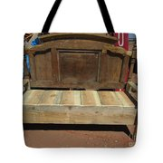 Wooden Bench Tote Bag