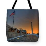 World War II Memorial Sunrise Tote Bag