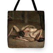 Wrestlers  Tote Bag