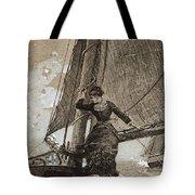 Yachting Girl Tote Bag
