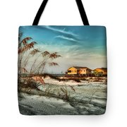2 Yellow  Beach Houses At Mobile Street Tote Bag