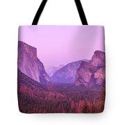 Yosemite Pink Sunset Tote Bag