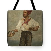 Young Fisherman In The Gulf With Capri At A Distance Tote Bag