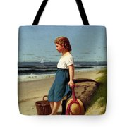 Young Girl At The Seashore Tote Bag