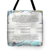 Sukkot-ushpizin Prayer- The Hosts... Tote Bag