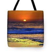 Sunrise Seascape And Rock Platform Tote Bag