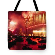 20 Tons Of Fireworks Explode Tote Bag