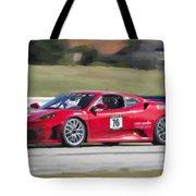 2007 Ferrari 430 At Sebring Raceway Tote Bag
