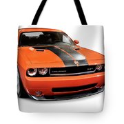 2008 Dodge Challenger Srt Muscle Car Tote Bag