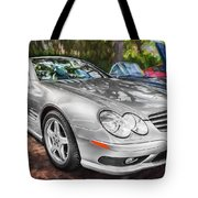 2008 Mercedes Benz Sl500 V8 Coupe Painted   Tote Bag