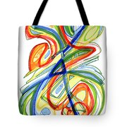 2010 Abstract Drawing Eight Tote Bag