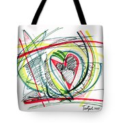 2010 Abstract Drawing Eighteen Tote Bag