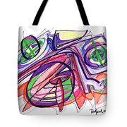 2010 Abstract Drawing Eleven Tote Bag