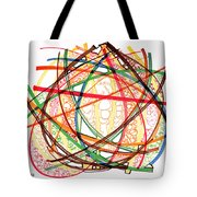2010 Abstract Drawing Fifteen Tote Bag