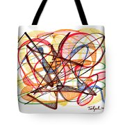 2010 Abstract Drawing Fourteen Tote Bag