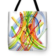 2010 Abstract Drawing Seven Tote Bag