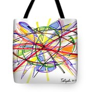 2010 Abstract Drawing Twelve Tote Bag