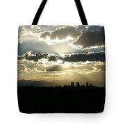 2010 June 4 Sunset Over Denver Tote Bag