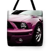 2010 Pink Ford Cobra Mustang Gt 500 Tote Bag