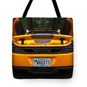 2012 Mc Laren Exhausts And Taillights Tote Bag