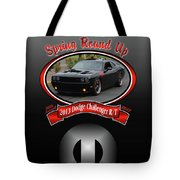 2013 Dodge Challenger Rt Wheeler Tote Bag