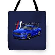 2015 Blue Mustang Tote Bag