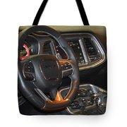 2015 Dodge Challenger Srt Hellcat Interior Tote Bag