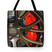 2015 Dodge Challenger Srt Hellcat Wheel Tote Bag