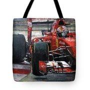 2015 Hungary Gp Ferrari Sf15t Vettel Winner Tote Bag