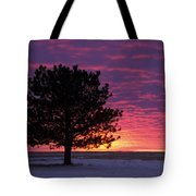 2015 New Year Sunset Tote Bag