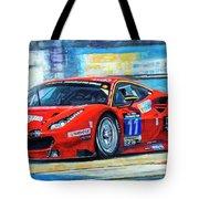 2016 Hankook 24h Epilog Brno Ferrari 488 Gt3 Winner Tote Bag