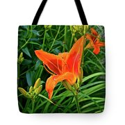 2016 July Garden Daylily Summer Afternoon Tote Bag