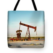 2016_10_pecos Tx_pump Jacks 2 Tote Bag