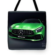 2017 Mercedes Amg Gt R Coupe Sports Car Tote Bag