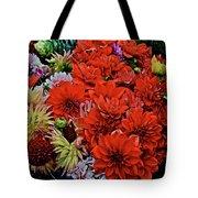 2017 Mid October Monona Farmers' Market Buckets Of Blossoms 1 Tote Bag