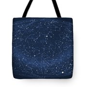 2017 Pi Day Star Chart Hammer/aitoff Projection Tote Bag